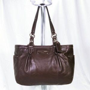💕Coach Brown Leather Tote Handbag